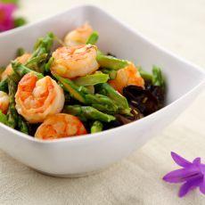 芦笋炒大虾的做法