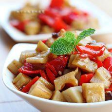 蚝油炒藕丁