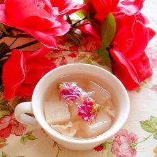 玫瑰冬瓜银耳蜂蜜饮