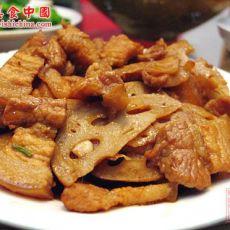 五花肉炒藕片的做法