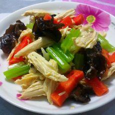 开胃拌腐竹的做法