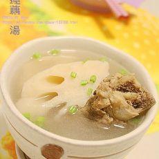 大骨莲藕汤的做法