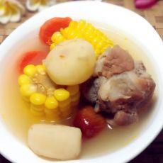 玉米马蹄骨头汤的做法