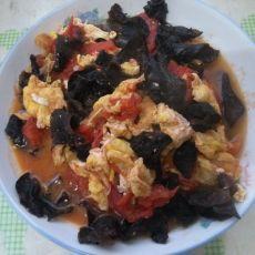 西红柿木耳炒鸡蛋