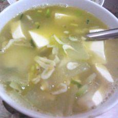 冬瓜虾米豆腐汤的做法