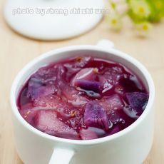 紫薯金桂银耳雪梨羹