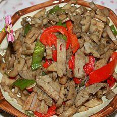 辣椒炒莲藕的做法