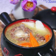 牛尾山药汤的做法