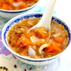 南瓜绿豆百合粥
