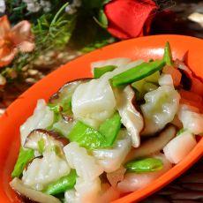 香菇荷兰豆炒山药