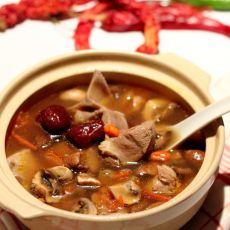 蘑菇羊肉煲