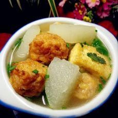 山药肉丸豆腐汤的做法步骤