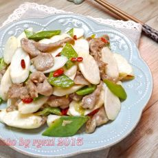 淮山炒肉的做法