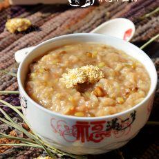 菊花绿豆粥的做法