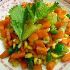 胡萝卜炒玉米粒――清淡小菜