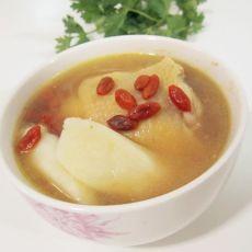 鲜淮山煲鸡汤