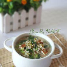 绿豆芹菜豆干粥