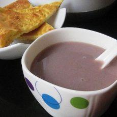 紫薯双豆糯米浆的做法