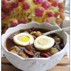 桂圆肉红枣炖鸡蛋的做法