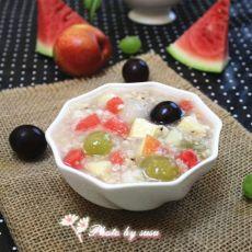 花样水果薏米粥的做法