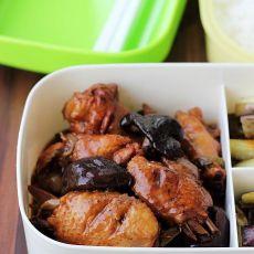 香菇鸡翅    适合做盒饭