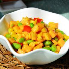 红薯炒玉米的做法