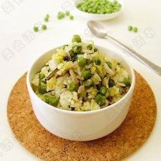 淡淡清香豌豆饭的做法