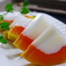 椰汁木瓜冻