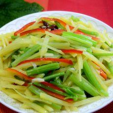 芹菜土豆丝的做法