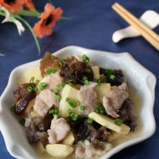 冬笋炒肉片的做法