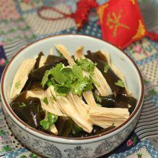 海带拌豆腐条的做法