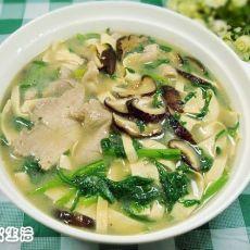 茼蒿腐皮肉片汤