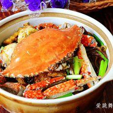 梭子蟹肉末粉丝煲的做法