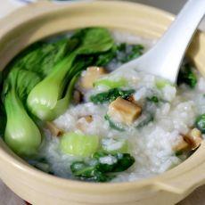 香菇青菜粥的做法
