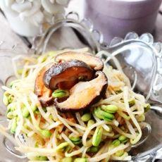 凉拌香菇黄豆芽
