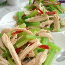 鸡丝拌芹菜