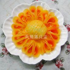 幸福的像花儿一样――橙汁木瓜