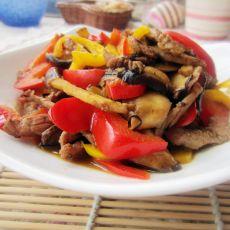 香菇彩椒肉丝的做法