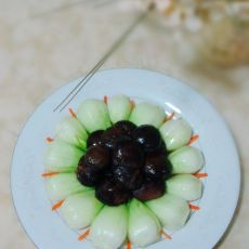 鲜菇扒油菜的做法