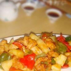菠萝咕噜虾仁
