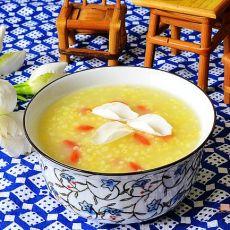 栀子花枸杞小米粥的做法