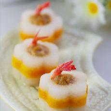 花式萝卜酿虾球