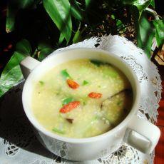 海参小米青菜粥的做法