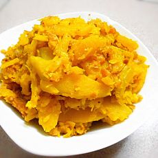 蛋黄炒南瓜的做法