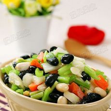 黑豆杏仁杂拌菜-有机黑豆食谱的做法