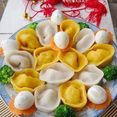 鸡肉平菇元宝饺子