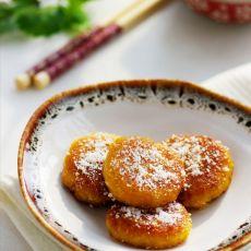 为妈妈而做的健康版椰香燕麦南瓜饼