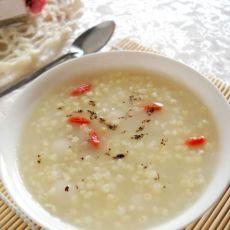 粗粮细作之汤圆小米粥的做法