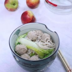 青菜肉丸面的做法