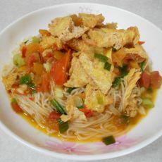 西红柿鸡蛋捞面条